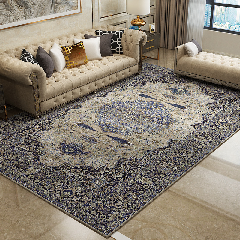 European Retro Large Persian Carpets Bedroom Home Lving Room Rugs And Carpet Non-slip Tatami Mats Study Carpet Floor Rugs