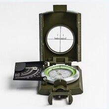 Многофункциональный металлический военный Водонепроницаемый Флуоресцентный компас высокой точности с пузырьковым уровнем для активного отдыха