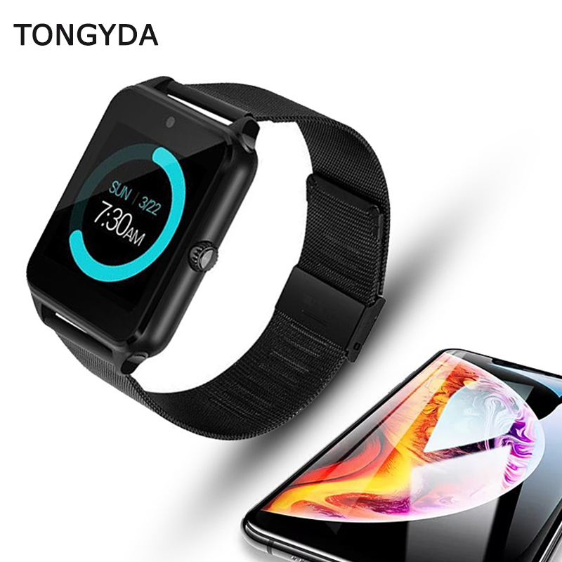 TONGYDA <font><b>Smart</b></font> <font><b>Watch</b></font> <font><b>GT08</b></font> <font><b>Plus</b></font> <font><b>Metal</b></font> Clock With Sim Card Slot Push Message Bluetooth Connectivity Android IOS Phone Smartwatch image