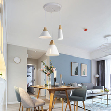 Nordic Simple LED Pendant Lights E27 Aluminum Wood Lamp Head Pendant Lamps Home Restaurant Counter Decoration Lighting Luminaire недорого