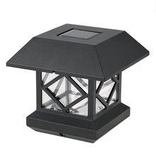 Electronic Solar Fence Post Cap Lights Outdoor Garden LED Auto Sensor Lamp