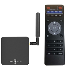 UGOOS AM3 أندرويد 7.1 الخطمي OS مربع التلفزيون الذكية 2GB + 16GB Amlogic S912 ثماني النواة 2.4G & 5G واي فاي H.265 VP9 UHD 4K مشغل الوسائط