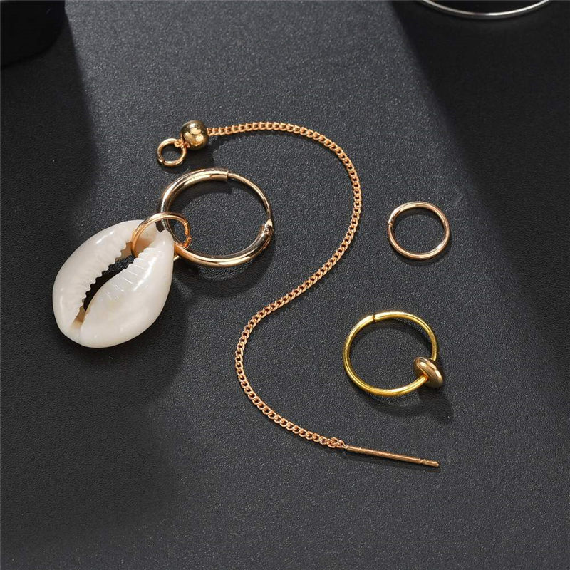 Summer Sea Shell Earrings for Women Girl Boho Stud Earings Set New Brincos Beach Jewelry Wedding Party Gift in Stud Earrings from Jewelry Accessories