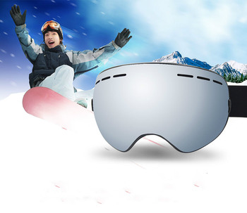 Ski Goggles Winter Snow Snowboard Glasses Anti-fogging UV Protection Helmet Compatible Men Women Skiing Snowmobiling Eyewear