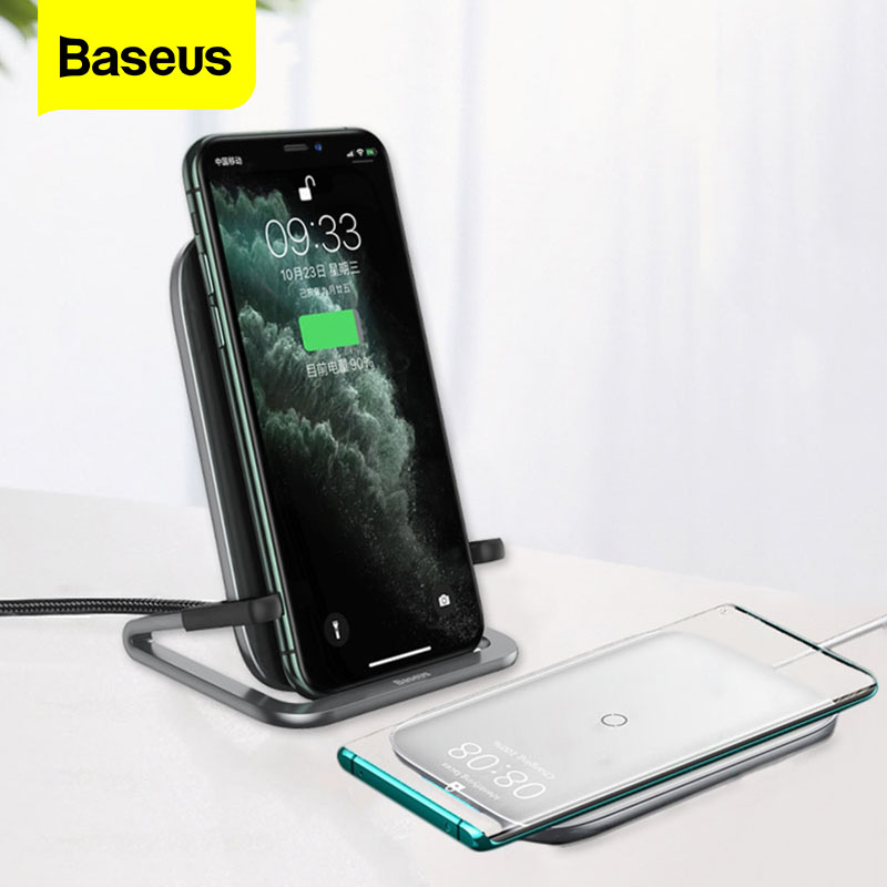 Baseus 15W Qi Wireless Charger For IPhone 11 Pro Xs Max Fast Wireless Charging Pad For Samsung S10 Xiaomi Mi 9 Induction Charger