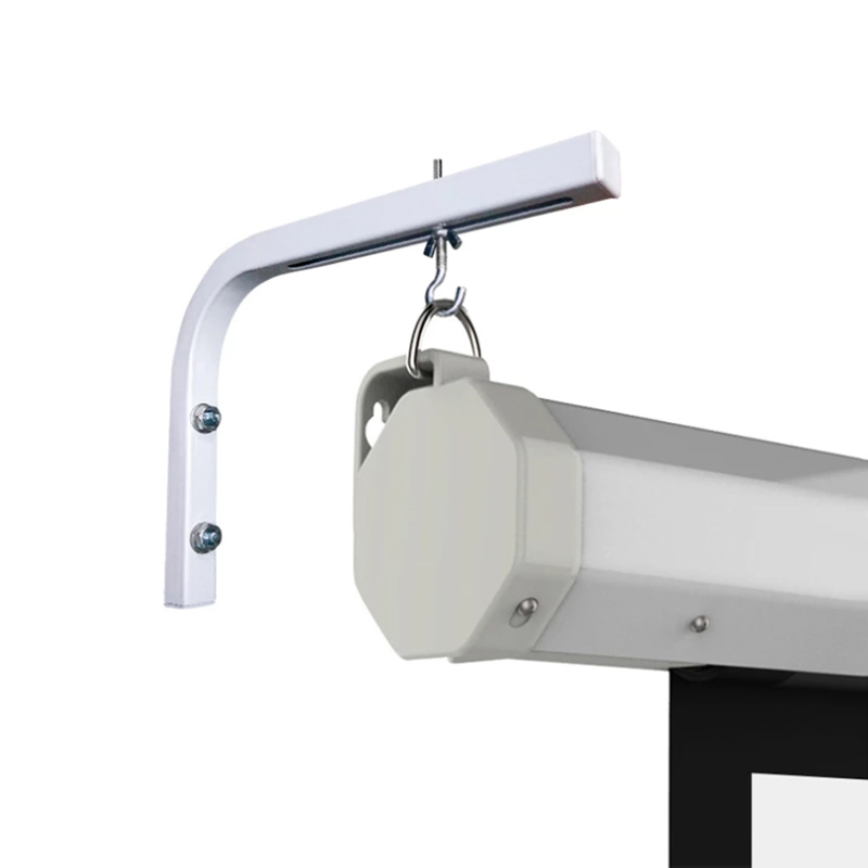 90 Degrees Bracket Projection Screen Hanger Adjustable Wall / Ceiling Mount For HD Projector Curtain L Shape Holder