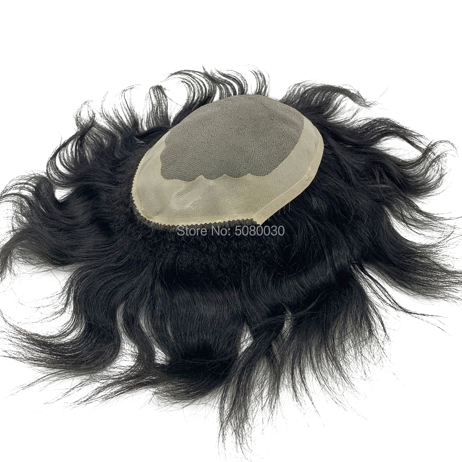 Custom Made Mono Lace Around NPU Mens Base Hairpieces  Free Shipping