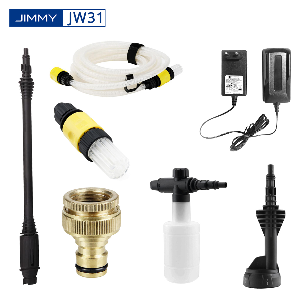 Original Cordless Pressure Washer Accessories For Xiaomi JIMMY JW31 Multi-sprayer Soap Bottle Hose Filter Adaptor Tap Connector
