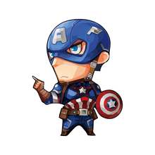 1Pcs Captain America Icon Sticker Marvel Avenger Thor Figure Patch Icon On Clothing Heat Sensitive Thermal Transfer DIY T-shirt(China)