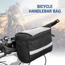 Велосипедная Изолированная Передняя Сумка велосипедная седельная сумка велосипедная сумка на руль корзина Паньер сумка-холодильник Светоотражающая полоса Аксессуары для велосипеда
