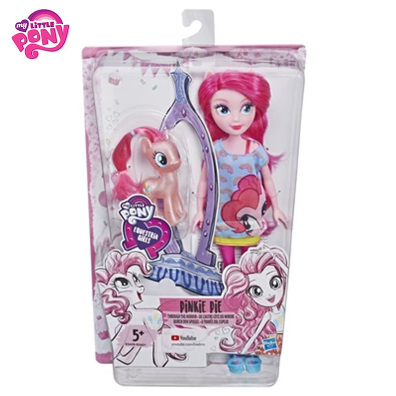 Original 2019 mon petit poney nouvelles poupées Pinkie Pie Action figurine ensemble equitation filles pour petit bébé cadeau d'anniversaire fille Bonecas - 3
