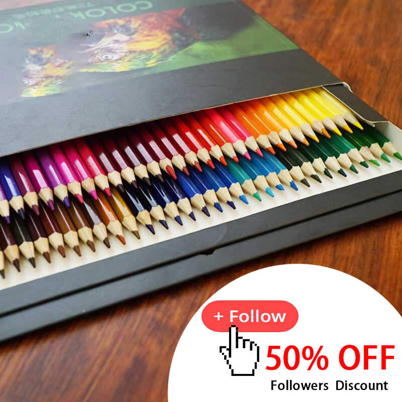 12/18/24/36/48/72 Colors Oily Color Pencil Color Lead Paint Brush  Water Soluble Colored Pencil Set Hand-Painted School Supplies