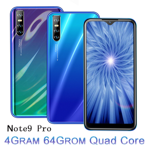 Note 9 Pro Smartphones Water drop Screen 6.26 Inch 4G RAM 64G ROM Quad Core 13MP Face ID Unlocked Android Mobile Phones Celulars