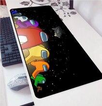 Среди нас DIY Дизайн Шаблон игровой коврик для Мыши Компьютерный коврик мышь для LoL Csgo 900x400 мм большой коврик для мыши клавиатуры коврик Рожде...