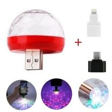 Disco Lighting Mini Portable Mobile Phone LED USB Light Stage Disco Lights Family Reunion Magic Ball Party Club Christmas Gifts