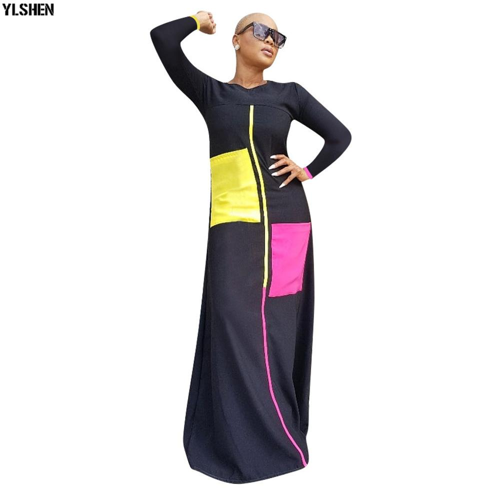 African Dresses For Women Long Sleeve 2019 New African Women Clothing Fashion Robe Africaine Long Maxi Dress Kafta Clothes