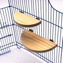 Птица Попугай деревянная платформа хомяк ветка перчи станция