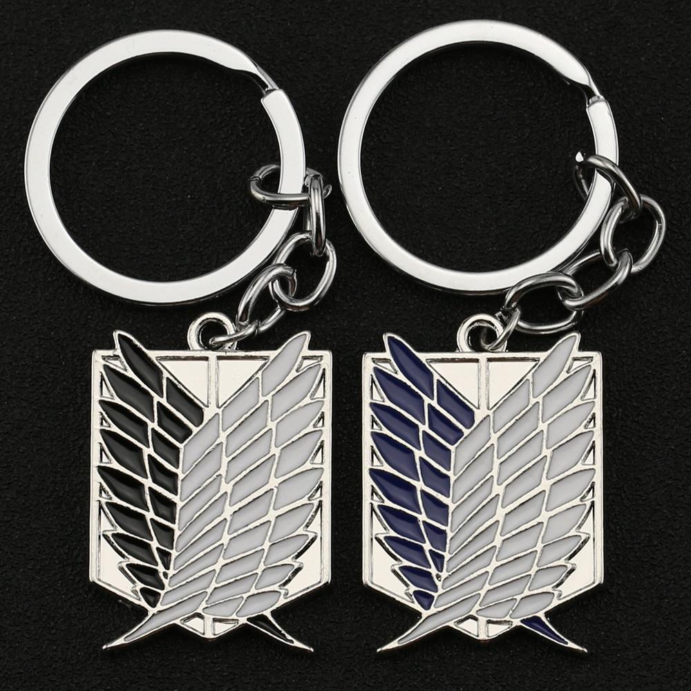 Chaveiro de liberdade, anel de anime atacado com asas do titan on chaveiro