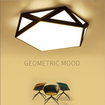 LED ceiling lamp simple modern warm romantic creative personality diamond hollow led ceiling lamp bedroom lamp