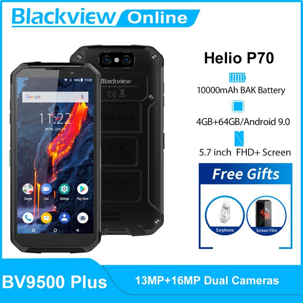 Blackview Helio P70 BV9500 Plus 64GB WCDMA/GSM/LTE/CDMA Nfc Adaptive Fast Charge Gorilla Glass