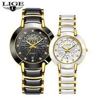 2020 Couple Watch Mens Watches Top Brand Luxury Quartz Watch Women Clock Ladies Dress Wristwatch Fashion Casual lovers Watch+Box