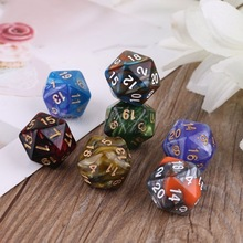 Board Dice Playing-Game Polyhedral Role D20 Numbers Dials-Table Muti-Sided 7pcs for Bar
