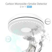 Tuya CO Detector Wifi Carbon Monoxide Smoke Detector Alarm Home Security Protection Voice