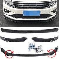 3PCS/Set Universal Car Front Bumper Lip Chin Body Kits For BMW Audi Front Bumper Kits Splitter For Honda Benz For VW Passat