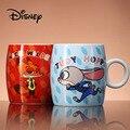 Disney Zootopia 300 рюмка  мл Q Edition Мультфильм ник Джуди керамическая чашка милый ребенок мальчик термос для девочек офисные чашки для молока кофе Ро...