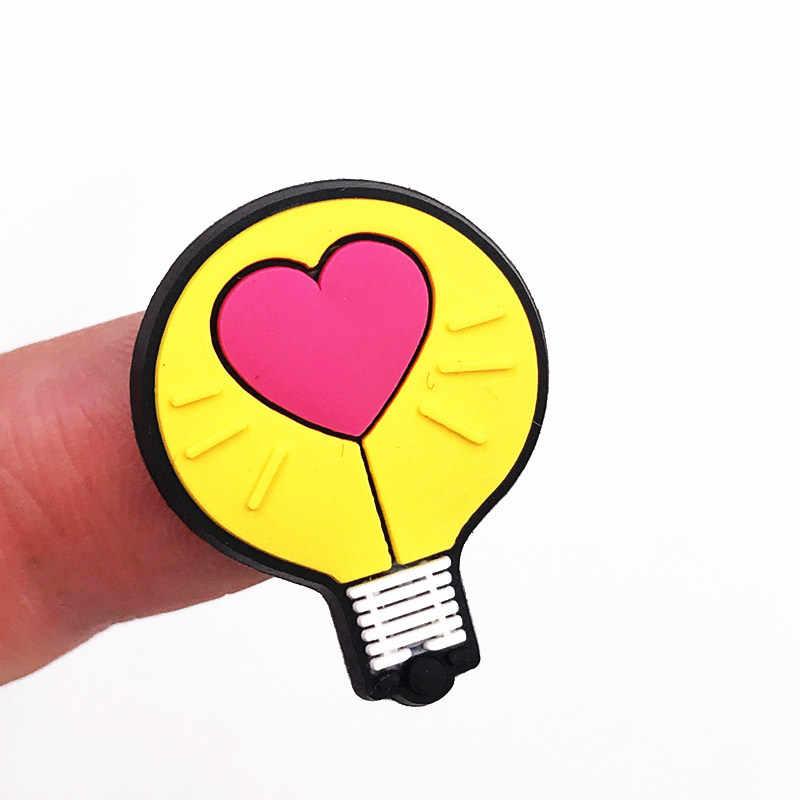 Yeni varış 1 adet güneş taç renkli gökkuşağı bitki silikon Flatback DIY sırt çantası buzdolabı mıknatısı kalem kapağı süs ayakkabı charm