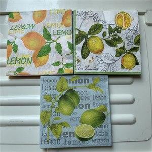 Image 2 - Guardanapos de papel decoupag festa de aniversário do casamento natal tecido vintage flor limão listrado beautifly serviletas decoração da mesa