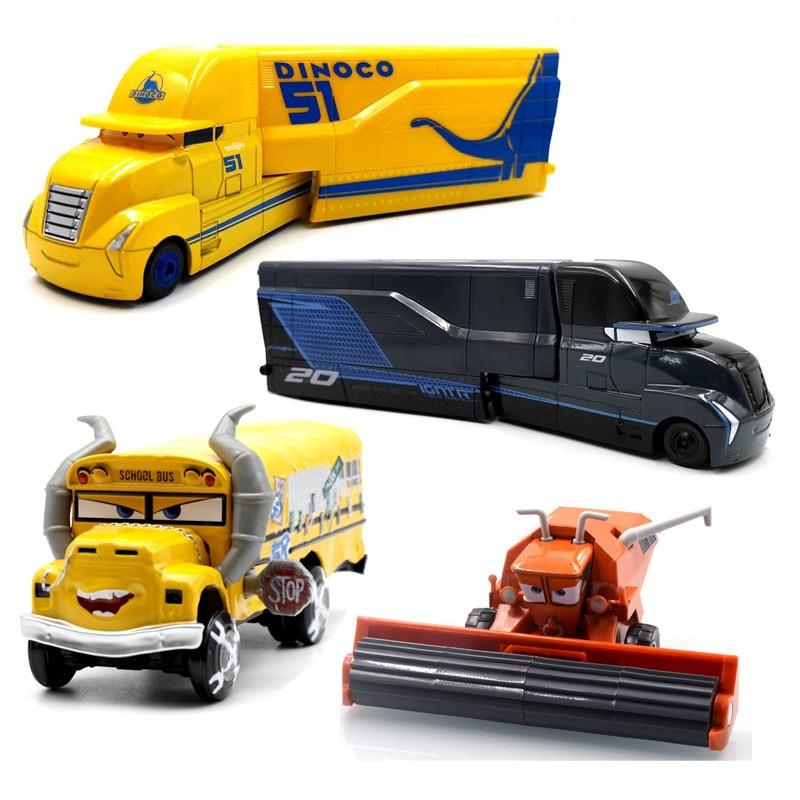 Disney pixar carros 2 3 brinquedos relâmpago mcqueen jackson tempestade mack tio caminhão 1:55 diecast modelo carro para crianças presentes de natal