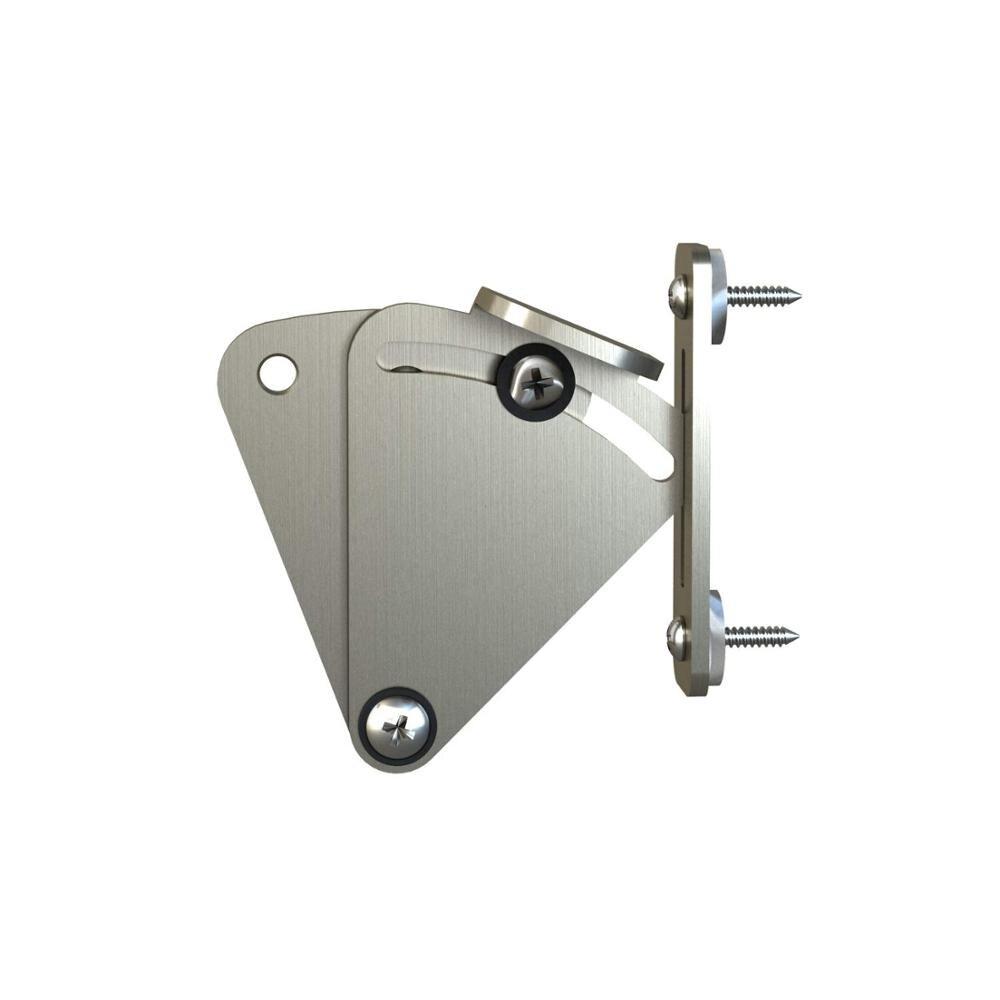 Satin Nickel Brushed Pocket Door Latch Lock Shed Door Privacy Lock Sliding Barn Door Hardware