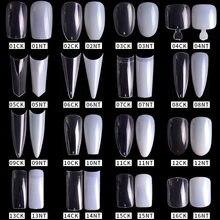 500 pcs10 tamanho ballet francês unhas falsas cor natural transparente cobertura completa falso unha arte dedicado manicure suprimentos