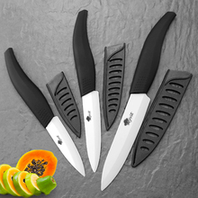Knife kitchen 3 4 5 inch Chef Ceramic Zirconia White Blade Three Piece Set Fruit Vegetable Color Cooking Knives Cutter