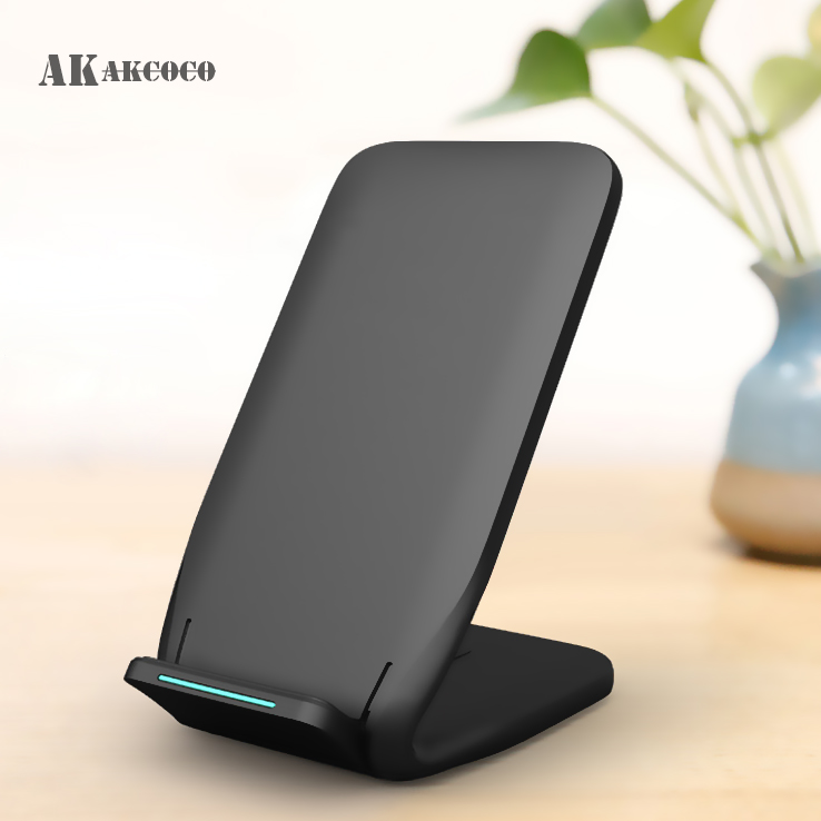 Qi Wireless Charger Stand For IPhone X XS Max XR 8 Plus QC3.0 Fast Wireless Charging Dock 10W For Samsung S9 S10+ Note 9 8