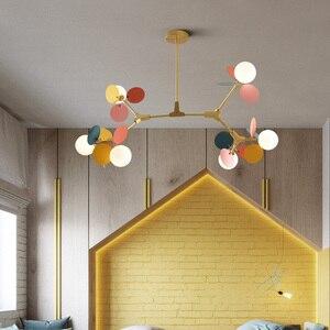 Image 3 - Modern Iron Art Pendant Lights LED Pendant Lamp Lighting Colorful Living Room Bedroom Dining Room Loft Home Decor Light Fixtures