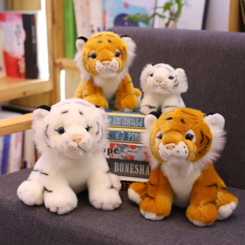 1pc 12cm Mini Sitting Tiger Plush Toys For Children Kids Cute Staffed Animal Doll Kids Creative Gift Home Decor Christmas Gift