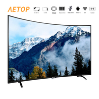 free shipping high quality ultra HD television android 43 inch led tv smart screen tv curved with bluetooth