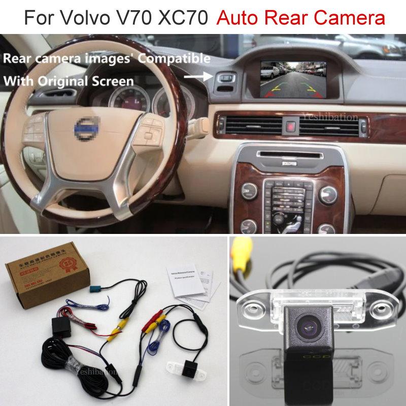 Yeshibation Car Rear View Back Up Reverse Camera Sets For Volvo V70 XC70 2007~2013 Night Vision RCA & Original Screen Compatible