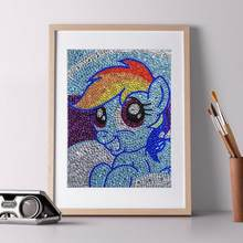 5D DIY Full Drill Special Shaped Diamond Painting Blue Horse Cross Stitch Embroidery Rhinestone Picture Home Wall Decor(China)