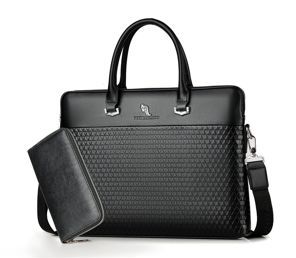 YICIYA Luxury Brand Leather Men's Briefcase Handbags Fashion Large Capacity Business Bag Tote Black Male Shoulder Laptop Bag