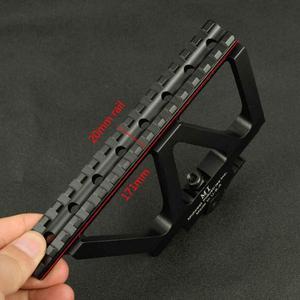 Image 2 - Soporte táctico CNC de liberación rápida AK para pistola de Rifle, accesorio para caza, puntero rojo, AK 47 AK 74, Picatinny
