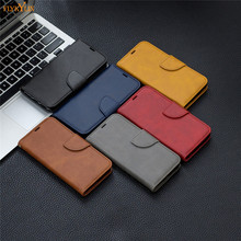 Redmi 7 Leather case on for Xiaomi 7A Solid color Wallet Flip cover For Coque Note K20 Pro Case Capa Funda