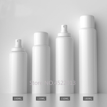100ml 120ml 150ml 180ml 30pcs Empty White Convenient Spray Bottle, DIY Snap Toner Refillable Container,Cosmetics Makeup Package