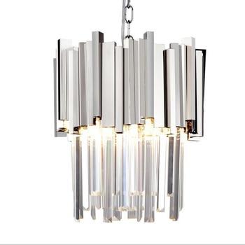 إضاءة متدلية كريستال الحديثة غرفة الطعام غرفة نوم المطبخ لوفت تركيبات إضاءة الذهب/الكروم