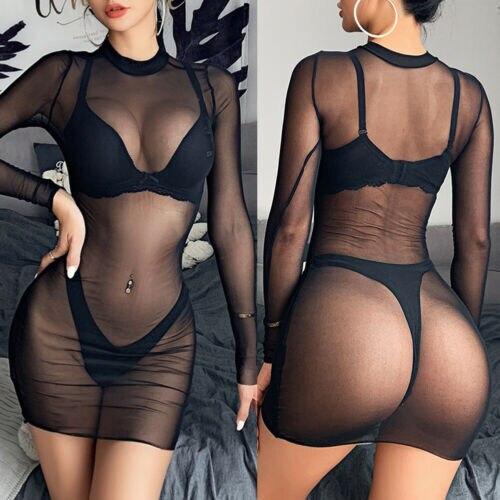 Сексуальный женский сетчатый купальник бикини, купальный костюм, Пляжное платье, клубная одежда