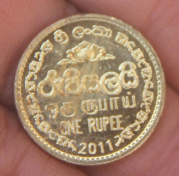 Sri Lanka 1 Rupee Asia Coins Old Original Infrequent Coin Commemorative Edition 100% Real Random Year