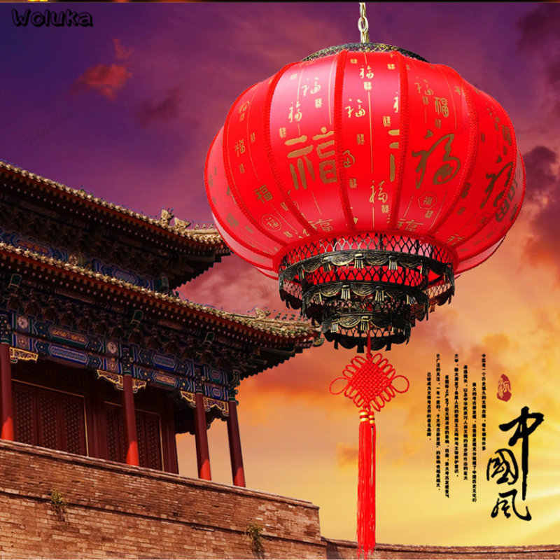 Chinese traditional lantern light red waterproof lantern Pattern Customization decoration advertising light CD50 W05