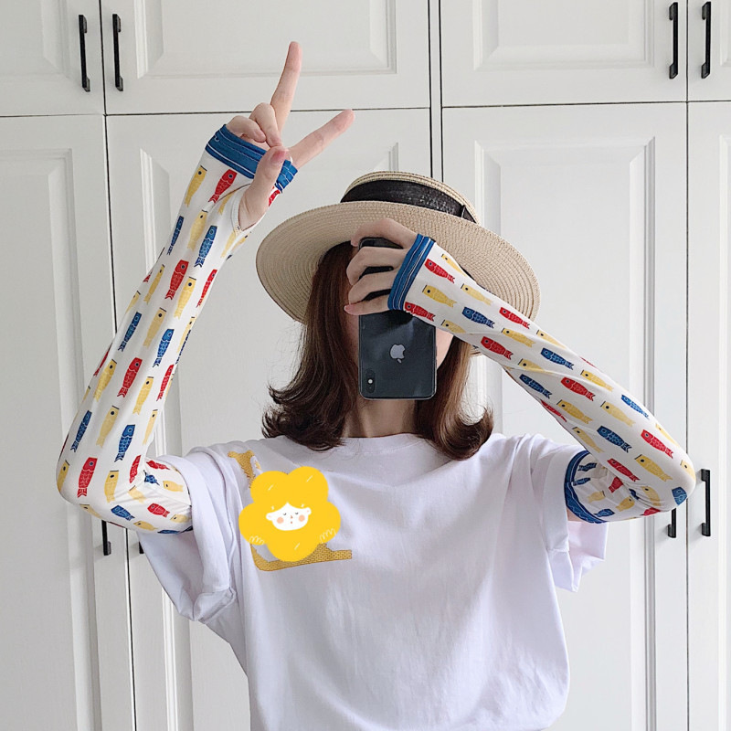 New 2020 Real Cycling Woman Manguito Sleeve Arm Guard Ice Sleeves Drive Artifact Lovely And Beautiful Girl Of Web Celebrity